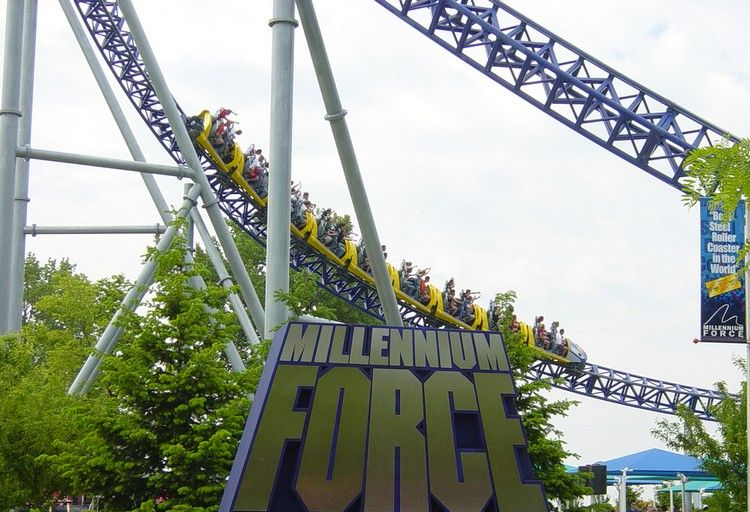 Аттракцион Millenium Force (14 фото)