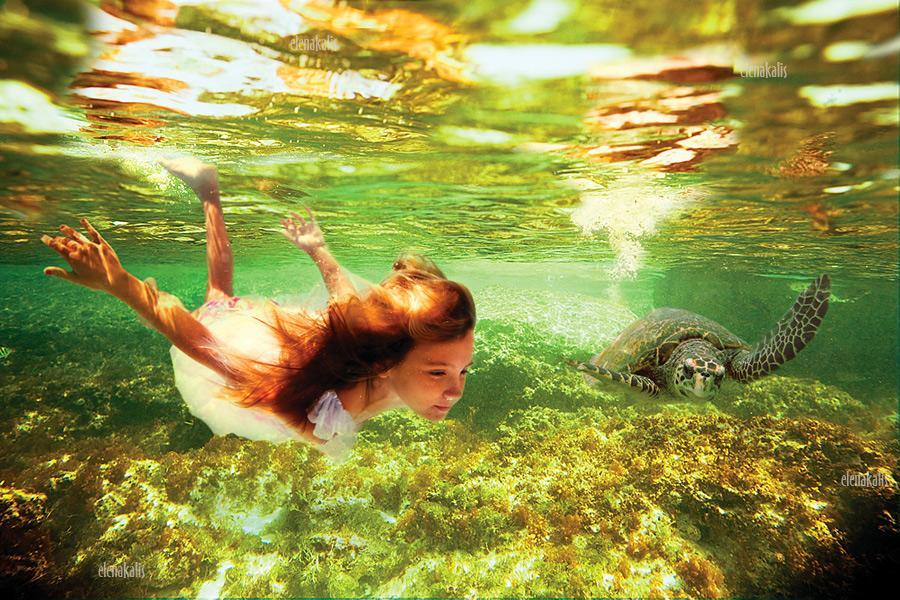 Волшебство под водой. Фотограф Elena Kalis