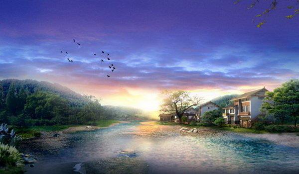 Рисованные пейзажи (26 рисунков)