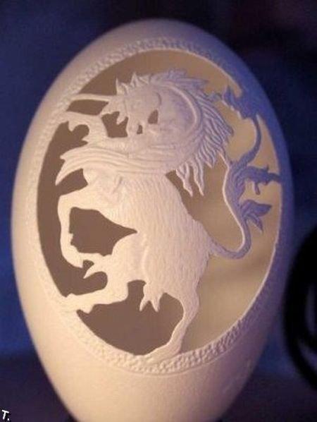 Креатив из яичной скарлупы