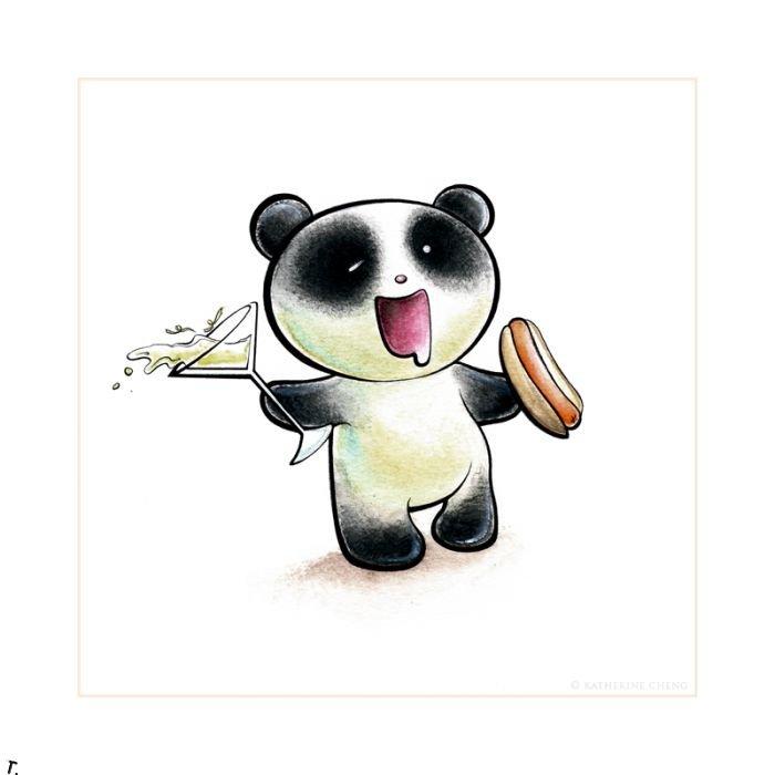 Картинки с пандой прикольные нарисованные