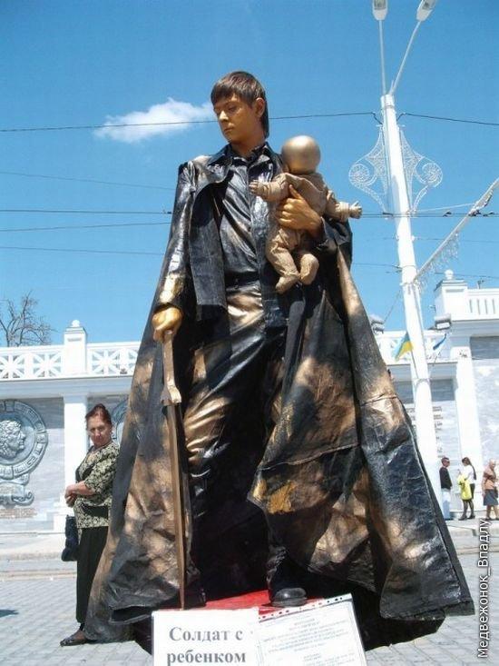 Чемпионат живых скульптур в Евпатории