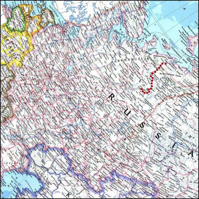 Участок дороги Ухта - Нарьян-Мар