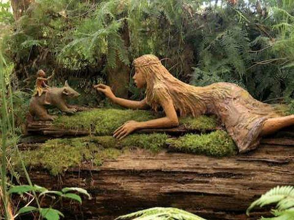 Сад деревянных скульптур в Мельбурне, Австралия