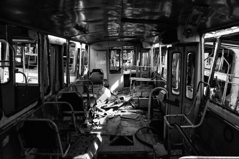 Заброшенный парк троллейбусов