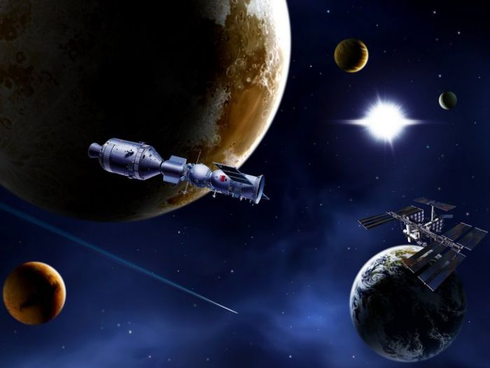 рисунки космоса фото