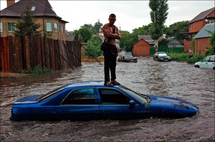 Ростов поплыл после дождя