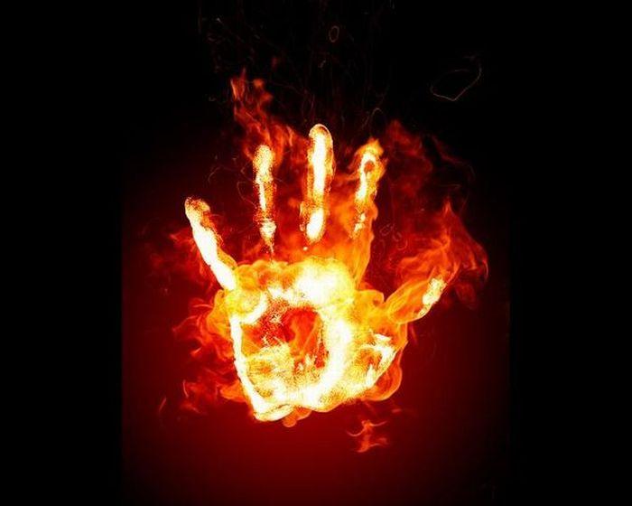 Креатив из огня