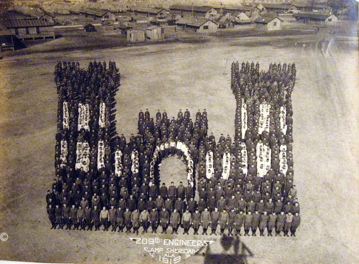 Тысячи американских солдат на фото из 1918-19гг