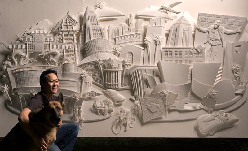 Бумажные скульптуры (13 фото)