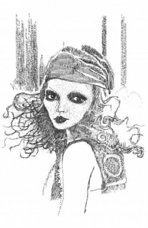 рисунки девушек символами: