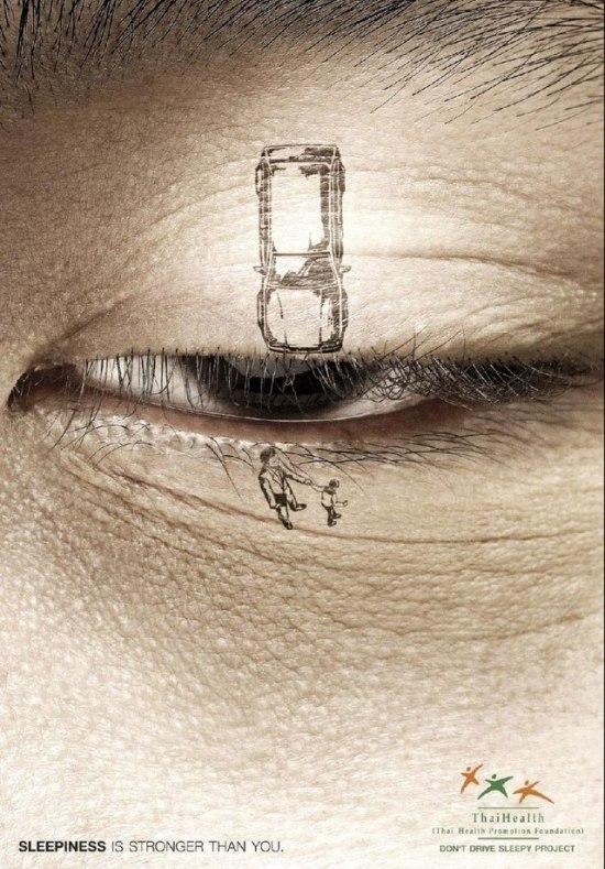 Социальная реклама против езды сонным
