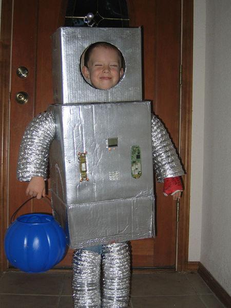 Костюм детский робот своими руками