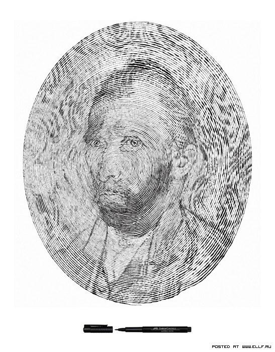 Портреты по спирали от Чан Чонг Хви