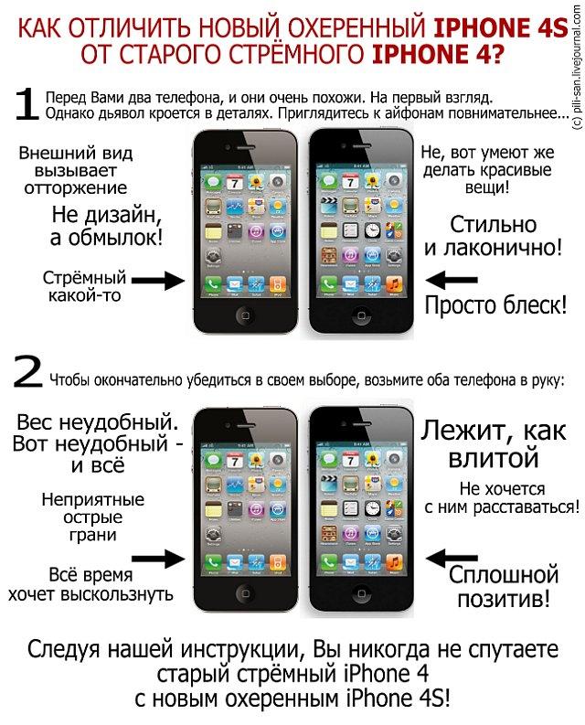 Iphone 4 и новый iphone 4s