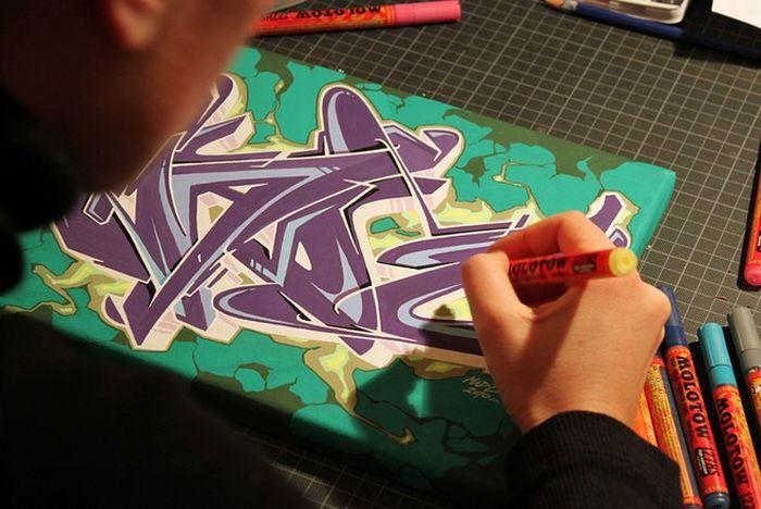 Огромное граффити от Mad C
