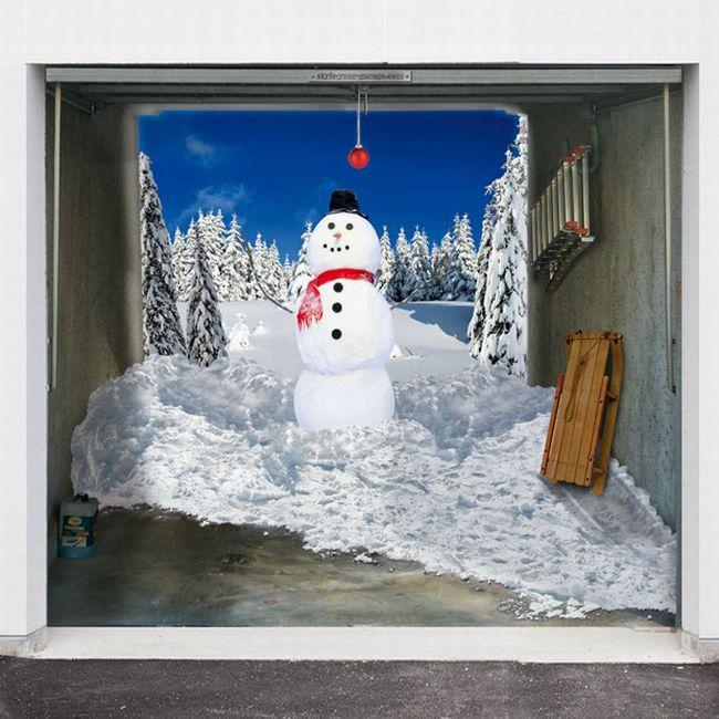 Новогодние наклейки на гараж