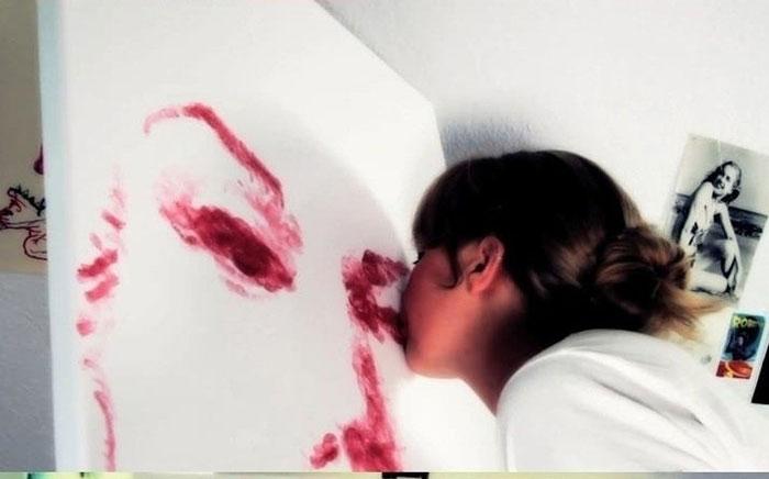 поцелуй рисунок карандашом: