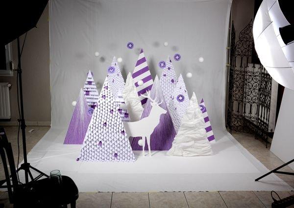Новогодний инсталляция своими руками