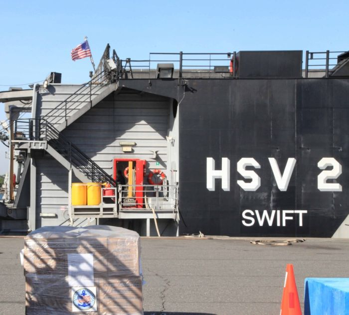 Военный катамаран ВВС США HSV-2 Swift