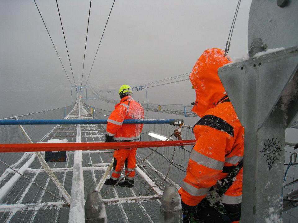Как строили мост в Норвегии
