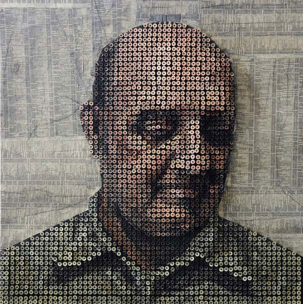 3D-портреты людей из шурупов