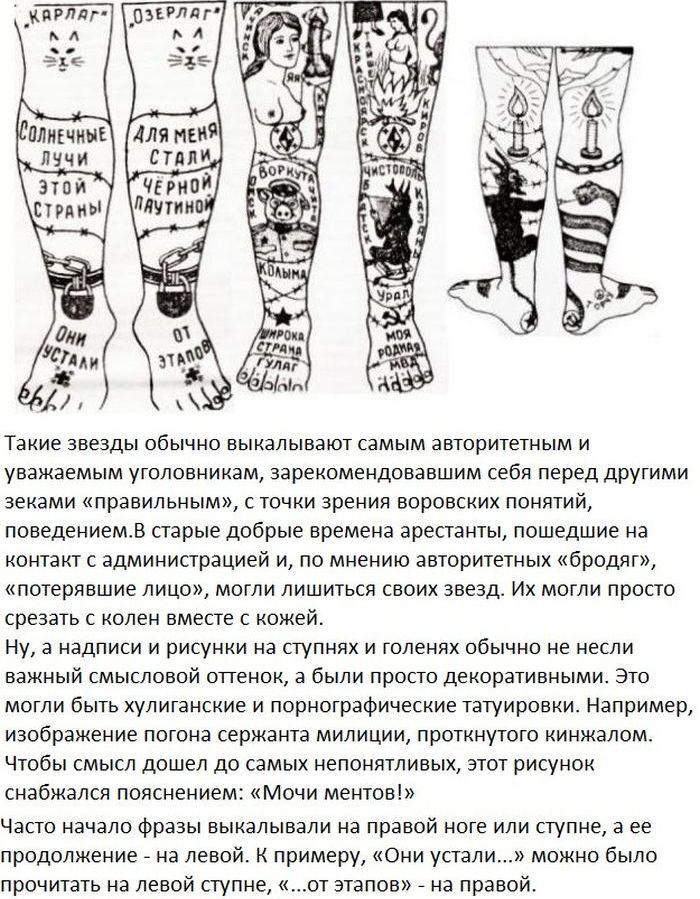 татуировки тюремные и их значение фото