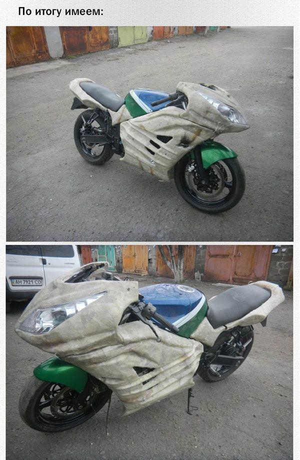 Обвес на мотоцикл днепр своими руками