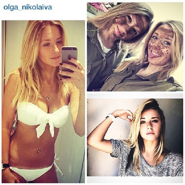 Симпатичные девушки-военнослужащие израильской армии