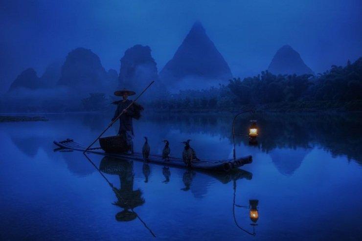 фото рыбаки река