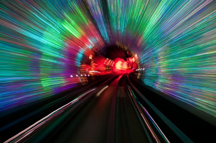 Туннель в Шанхае Bund Sightseeing Tunnel (14 фото)