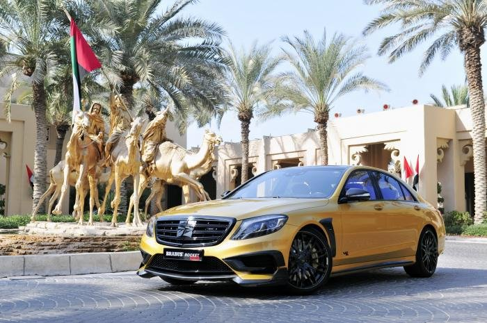 Компания Brabus представила Mercedes S65 AMG Rocket 900 Desert Gold (26 фото)