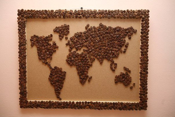 Картина с зерен кофе своими руками фото