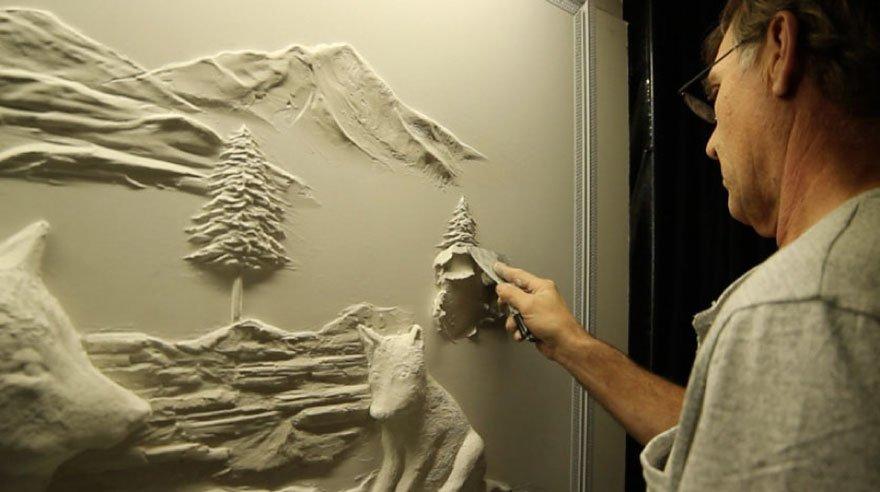 Объёмные картины на стене своими руками