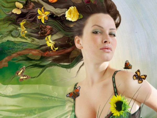 Весенний женский образ