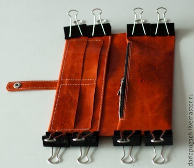 Как сшить кожаный кошелёк