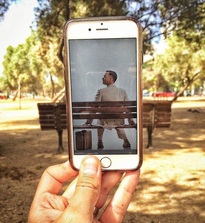 как сделать из фото рисунок на айфоне идет
