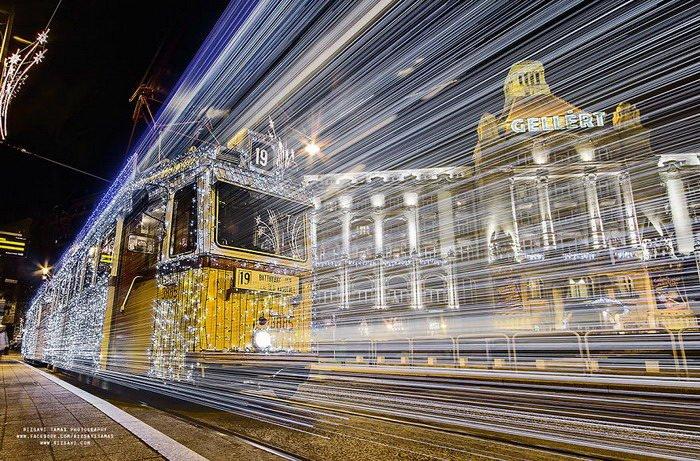 Рождественский трамвай Будапешта в снимках Tamás Rizsavi