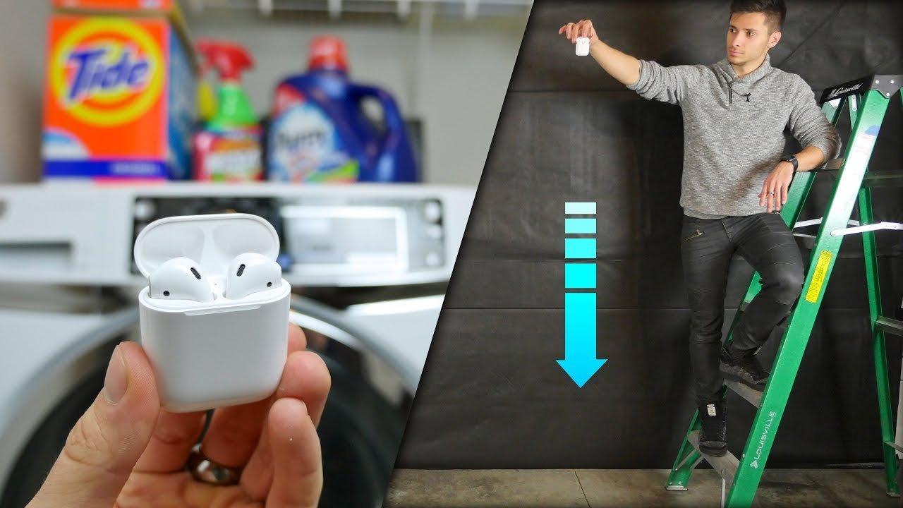 Apple AirPods испытали на прочность и водонепроницаемость
