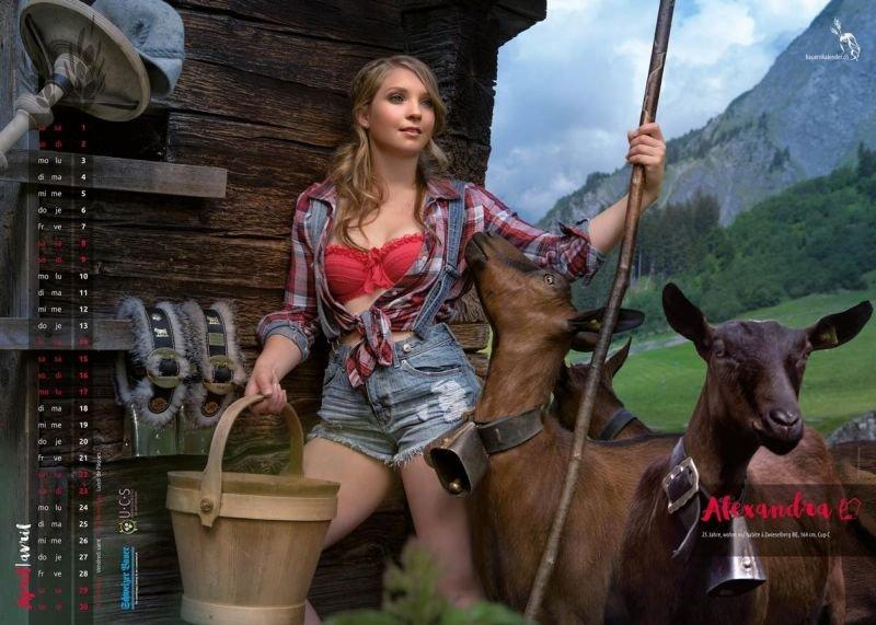 Натуральная красота швейцарских крестьянок в пикантном календаре на 2017 год