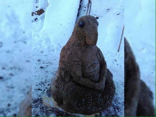 Якутский мастер создал скульптуру Ждуна из навоза