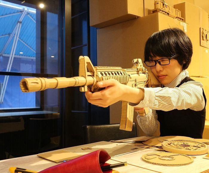 Невероятные скульптуры из картона от японской художницы