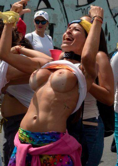 Как протестуют жительницы Венесуэлы