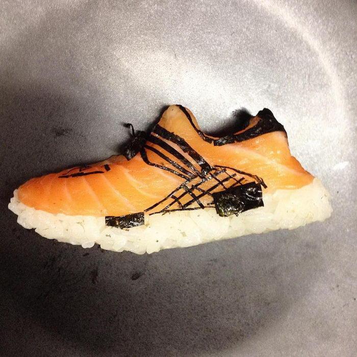 Суши в форме обуви - работы Yujia H