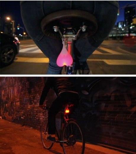 Задние ходовые огни для велосипеда в виде...