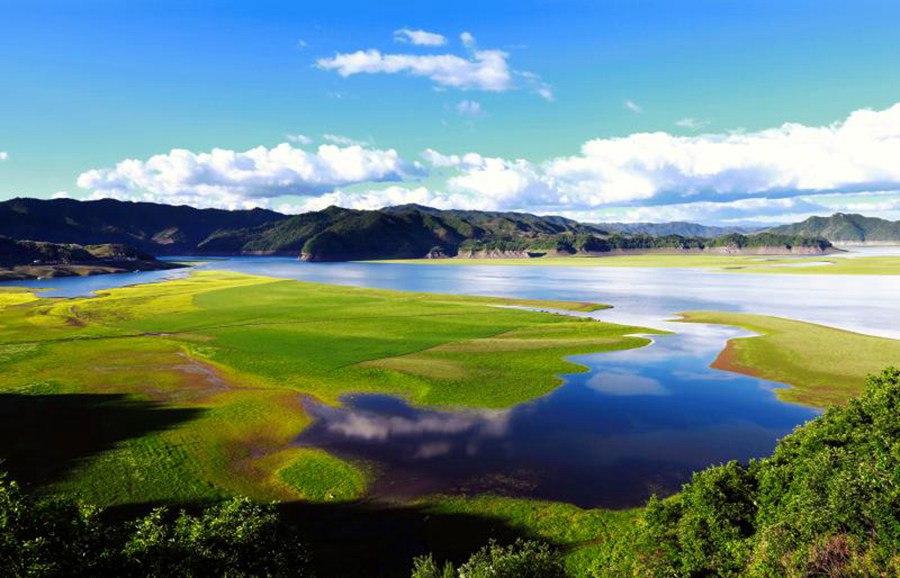 Река Ялу на границе Китая и КНДР