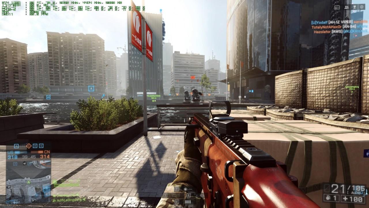 Производительность ПК в Игре Battlefield 4: 4K TEST!! (GTX 1060 @2000/4400 & I7-4790K @4Ghz)