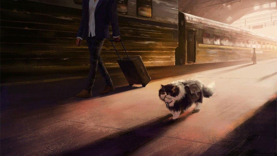 Кот-путешественник, или долгая дорога домой (художник: Эндрю Пальянов)