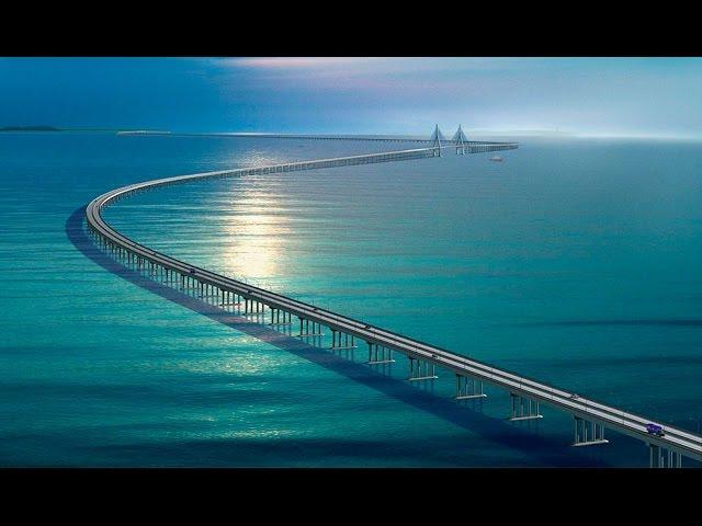 СУПЕРСООРУЖЕНИЯ, самый большой в МИРЕ МОСТ! Китай!! Строительство!