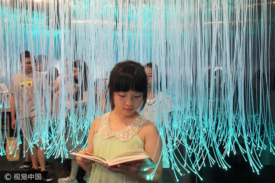 Интерьер книжного магазина в Китае